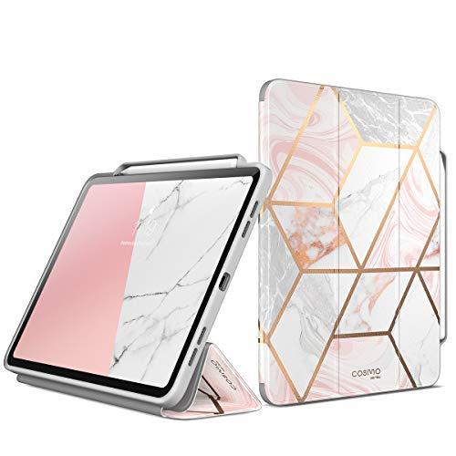 i-Blason Hülle für iPad Pro 11 Zoll 2020 / 2018 Schutzhülle Bumper Case Trifold Stand Cover [Cosmo] mit Auto Schlaf/Wach und Pencil Halter, Marmor