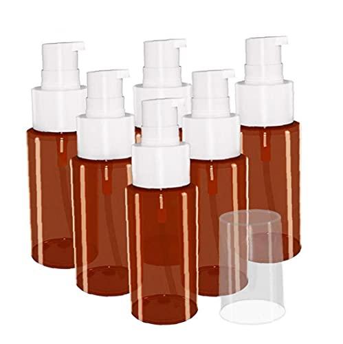 YepYes Botella de Spray Muestra cosmética vacía 60 ml Mousses de jabón de Botella de Spray Dispensador de líquidos para Limpieza Aromaterapia Cosmetic 6pcs para Mujeres Hombres