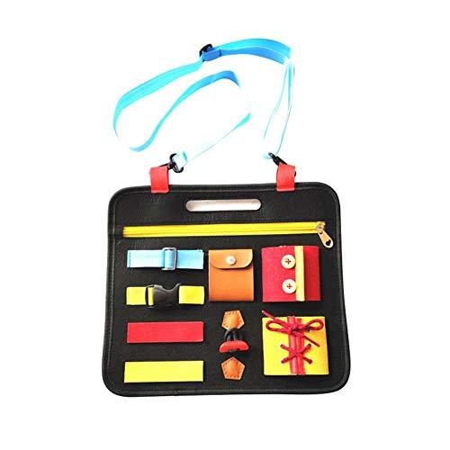 Montessori-Lernbrett für Kleinkinder, pädagogisches Spielzeug für das Erlernen erster Fähigkeiten, Lernspielzeug mit Reißverschlüssen, Knöpfen und Schnallen, für Kinder als Geschenk