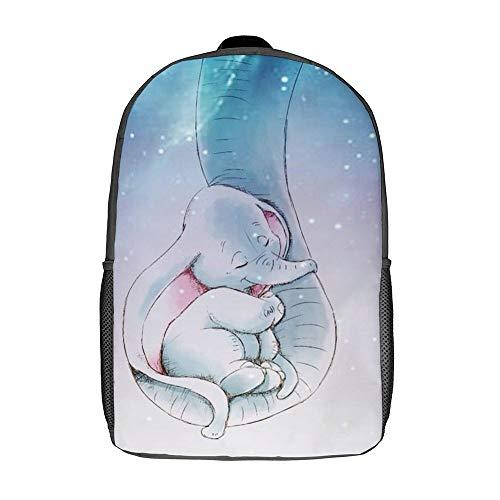 Mochila Dumbo para la Escuela, Bolsa de Viaje, para Negocios, para Hombres, Mujeres, Adolescentes, Colegio, 17 Pulgadas