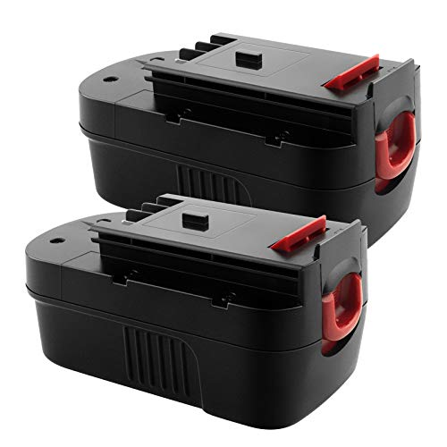 EICHXO 2er Pack 18V 3500mAh NI-MH Ersatz Batterie für Black & Decker 18V Akku Bohrwerkzeuge A1718 A18NH HPB18 HPB18-OPE Feuersturm A18 FS180BX FS18BX FS18FL FSB18 244760-00 Feuersturm EPC18 NST2118