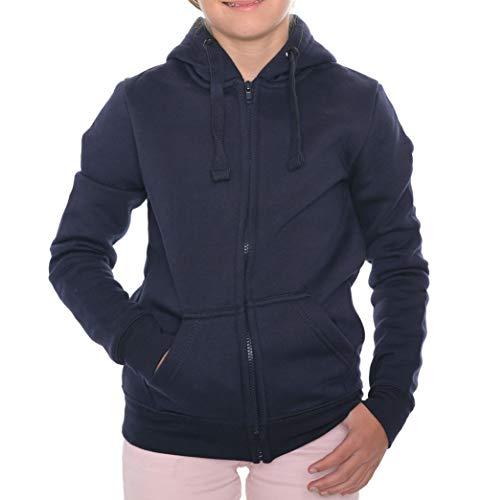 ROCK-IT Apparel® Kinder Kapuzenjacke Hoodie Kapuzen Sweaterjacke Pullover Zipper Hoody Größen 98-164 Farbe Navy Blau 134/140