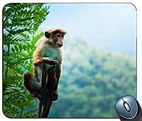 動物のぼかし好奇心が強いかわいいカスタマイズされたマウスパッド長方形マウスパッドゲーミングマウスマット
