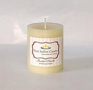 Autumn Leaves + Vanilla Handmade Scented Pillar Candle PIC006