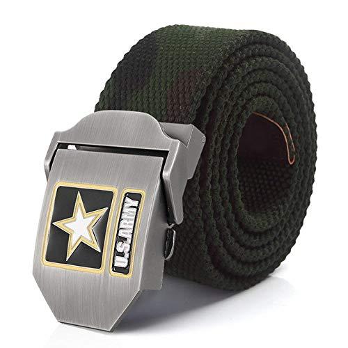 WOAIXI Lona Cinturón,Moda Hombres Mujeres Moda Jeans Cinturones Cinturón De Tela De Lona Ejército De Los EE. UU. Hebilla De Metal Cinturón Militar Cinturón De Cincha Informal Cinturilla Táctica Vin