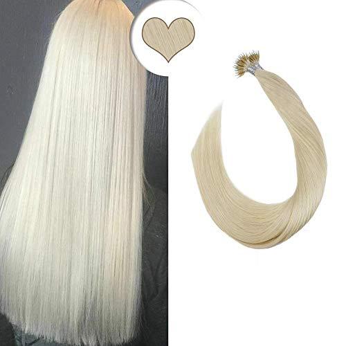 24 pulgadas Micro Loop extensiones de cabello humano 100 hilos 100g 100% Remy extensiones de cabello real invisible micro anillo granos 99j # vino tinto