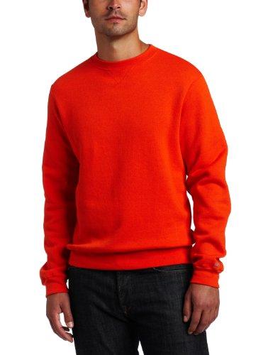 Soffe Men's Crew Neck Sweatshirt, Orange, Small
