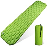LCP Sports Esterilla Acampada Camping | Esterillas Inflables Portátil Ligera | Cama al Aire Libre; Verde