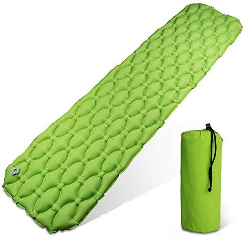 LCP Sports Luftmatratze XL Camping Isomatte 200x50 cm Aufblasbare Outdoor Schlafmatte sehr Kompakt Faltbar, Leicht, Grün