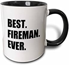 Best Fireman Ever- Fun Gift For Firemen - Fire Man Job Appreciation Two Tone Mug, 11 oz, Black