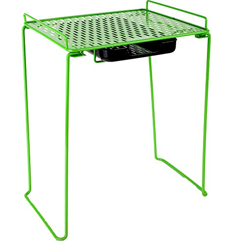 """Five Star Locker Accessories, Locker Shelf and Drawer, Extra Tall 14"""", Holds up to 100 Lbs. Fits 12"""" Width Lockers, Lime (38232)"""