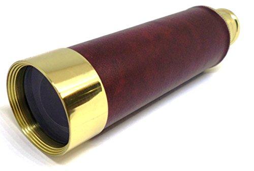 Kepler Optik 25x30 Draw Tube Telescoop - Vintage Stijl Messing lichaam, Houten geschenkdoos