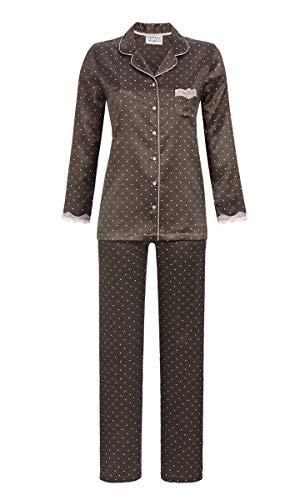 Ringella Lingerie Damen Pyjama durchgeknöpft Charcoal Grey 44 9562227, Charcoal Grey, 44