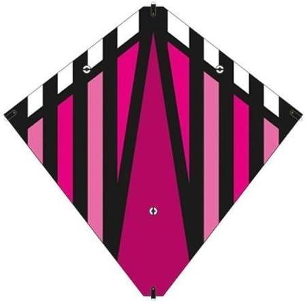 X-Kites 30 Inch New York Mall Magenta Stunt Diamond w Very popular Li Handles Double Kite
