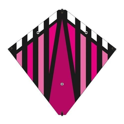 X-Kites 30 Inch Magenta Stunt Diamond Kite w/Double Handles & Line