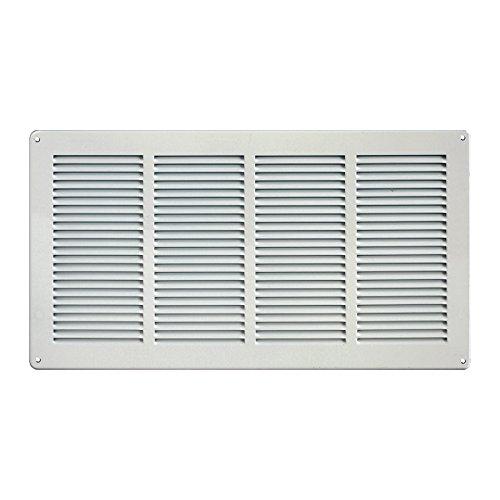 - Grille de ventilation métallique - Grille ventilation métal 440x240mm - Couleur inox