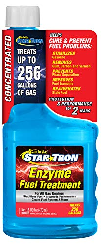 Star Tron Enzyme Fuel Treatment - Concentrated Gas Formula 16 oz - Treats 256 Gallons