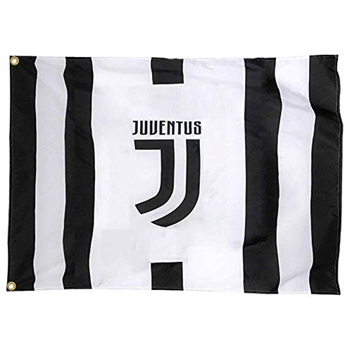 Offizielle FC Juventus (Serie A) Riesenflagge (100 % Polyester, 150 x 90 cm)