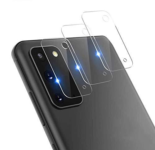 QULLOO Cámara Trasera Lente para Samsung Galaxy S20, Protector Cámara [Alta definición] Cristal Templado para Galaxy S20-3 Piezas
