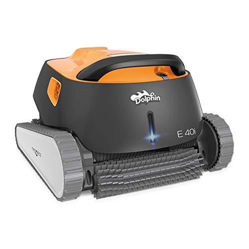 Dolphin E40i Automatischer Schwimmbecken-Reinigungsroboter. Handlicher, leichter und einfach zu reinigender Sauger. Ideal für in den Boden eingelassene und auf der Erde aufgestellte Schwimmbecken