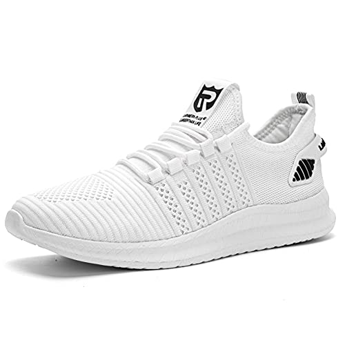 Sneaker Casual da Uomo Fitness Sportive Running Ginnastica Scarpe Bianco 43