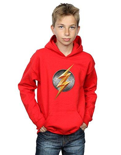 DC Comics niños Justice League Movie Flash Emblem Capucha 5-6 Years Rojo