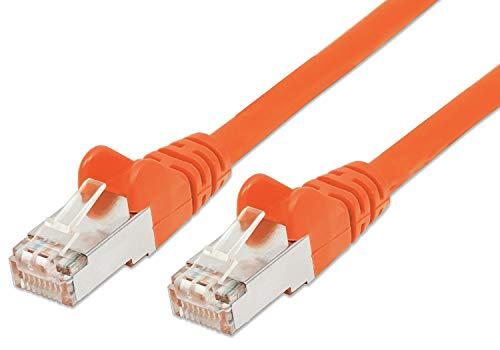 PremiumCord Netzwerkkabel, Ethernet, LAN & Patch Kabel CAT6a, 10Gbit/s, S/FTP PIMF Schirmung, AWG 26/7, 100% Cu, schnell flexibel und robust RJ45 kabel, orange, 0,5m