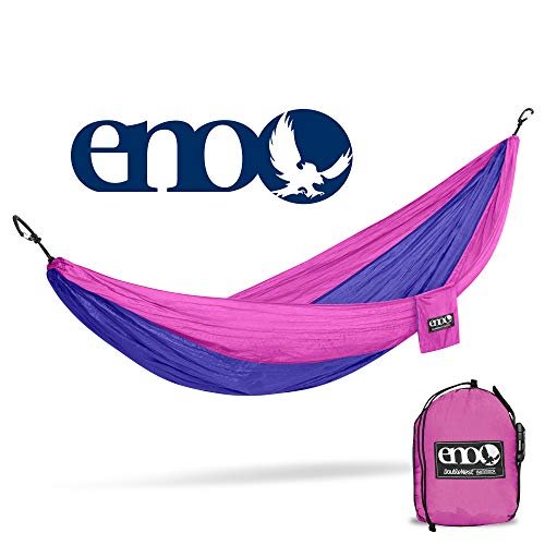 ENO - Eagles Nest Outfitters DoubleNest Lightweight Camping Hammock, 1 to 2 Person, Purple/Fuchsia