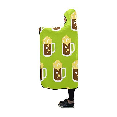 LONGYUU Mit Kapuze Decke Bierglas Decke 60 x 50 Zoll Comfotable Hooded Throw Wrap