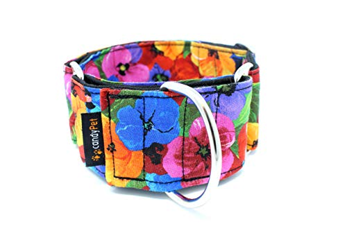 candyPet Collar Martingale Para Perros - Modelo Flores, L