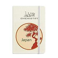 日本文化の赤い木パターン 化学手帳クラシックジャーナル日記A 5