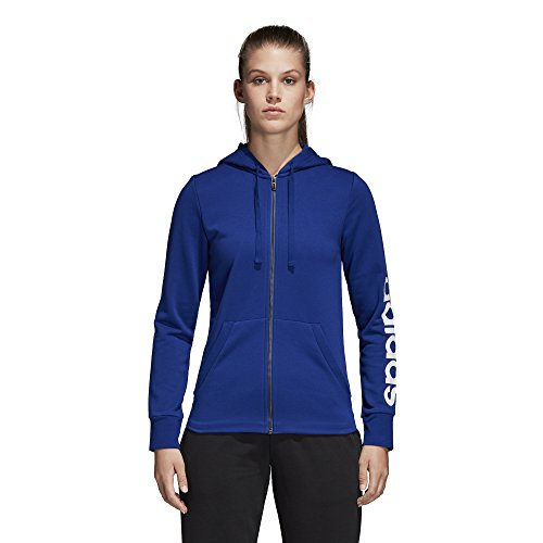 adidas Athletics Essentials Linear - Felpa con Cappuccio da Donna, Donna, Felpa, S1754WCL400, Mystery Ink/White, XS