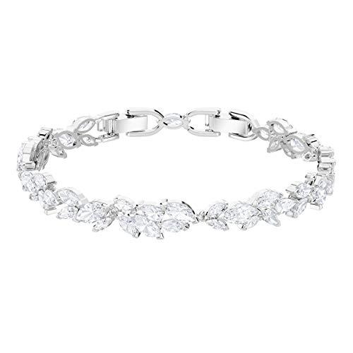 Swarovski Louison Armband, Weiß, Rhodiniert