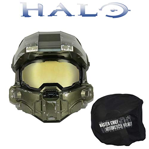 Halo Master Chief Motorcycle Helmet X-Large