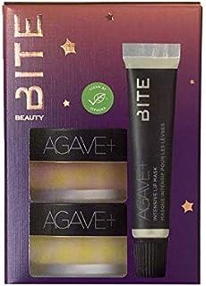 Bite Starlit Succulents 3-Piece Agave Lip Care Set Lip Scrub, Night time Lip Therapy, Lip mask