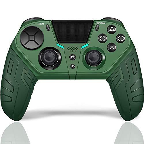Controle Sem Fio DualShock 4 para PS4 Elite/Slim/Pro, Joystick de Jogos USB Bluetooth com Porta para Fone de Ouvido de 3,5 mm, Gamer Consoles para Playstation 4, PC, Laptop, IOS, Android (Preto)