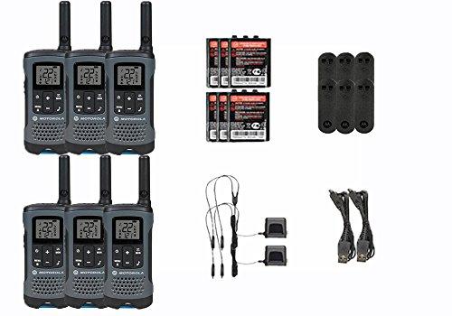 Motorola Talkabout T200TP Walkie Talkie 6 Pack Set Two Way Radio Package