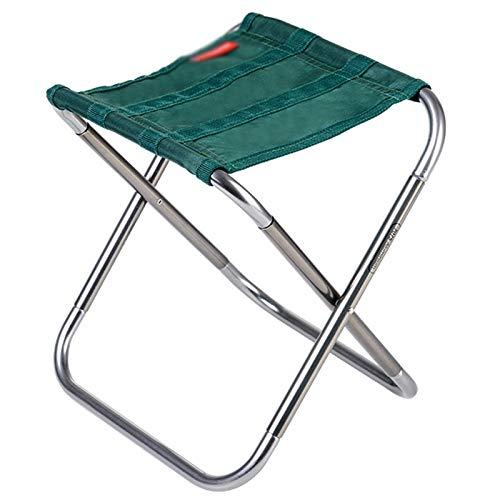 QAZ Ultra-light Portable Folding Stool Outdoor Fishing Stool Art Sketch Folding Chair Mini Subway Stool (Color : A, Size : 25 22.4 26cm)