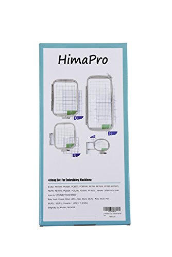 Embroidery Hoop Set for Brother Embroidery Machine - 4 Pack
