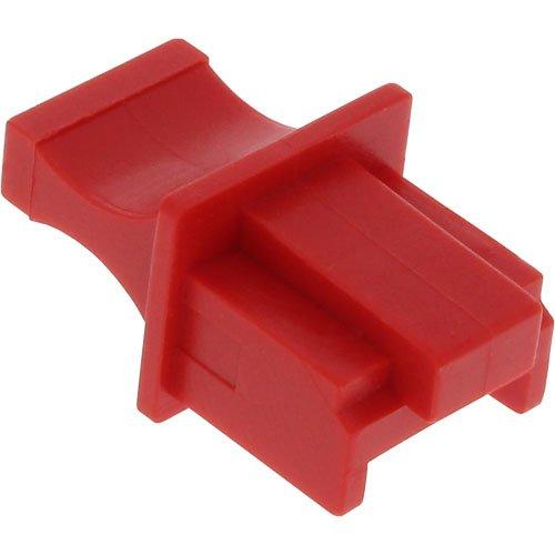 InLine 59942K 100er Pack Staubschutz, für RJ45 Buchse, rot
