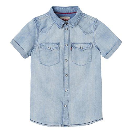 Levi's kids Bobby Camisa de Vestir, Azul (Sodalite Blue), 12 años para...