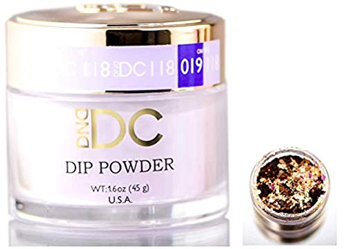 DND DC Purples DIP POWDER for Nails 1.6oz, 45g, Daisy Dipping (with bonus side Glitter) Made in USA (Unicorn Lovely (118).)