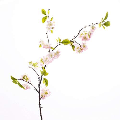 artplants.de Künstlicher Kirschblütenzweig Valeska, 55 Blüten, Hellrosa, 105cm - Kunst Zweig - Frühlingsdekoration