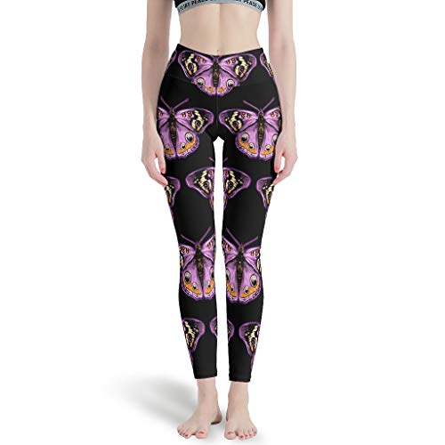 Dofeely dames vlinderpatroon yoga pants opaak hoge taille sport tights capri sport training joggingbroek S-XL