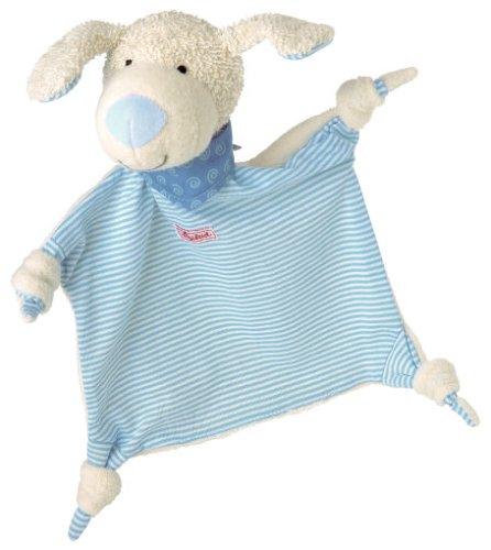 sigikid, Jungen, Schnuffeltuch Hund, Blau/Weiß, 48096