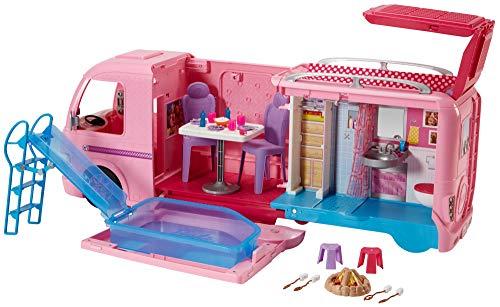 Barbie FBR34 Camper dei Sogni per Bambole con Piscina, Bagno,...