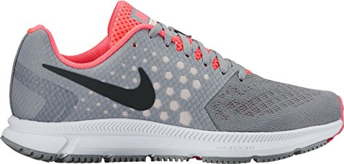 NIKE New Women's Air Zoom Span Running Shoe Stealth/Pink 6