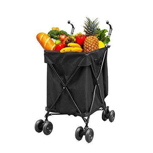 HLL Carro, plegable multifunción portátil plegable cesta de la compra, carrito, Hogar...