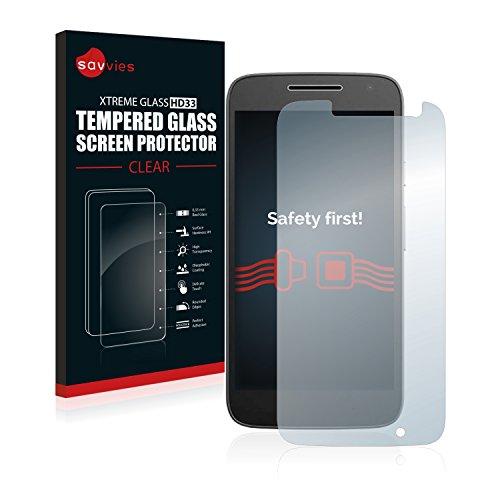 savvies Cristal Templado Compatible con Motorola Moto G4 Play Protector Pantalla Vidrio...