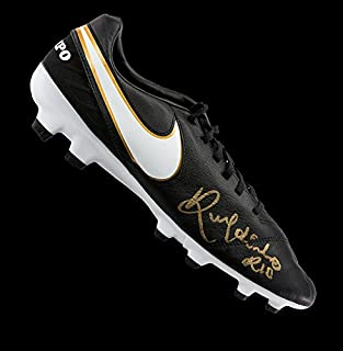 ee6825ee2 Ronaldinho Autographed Signed Black Nike Tiempo Boot - Certified Authentic  Soccer Signature